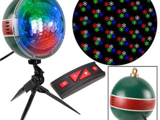 lightShow 61 Effects Christmas Projection SnowFlurry with Remote Snowflake
