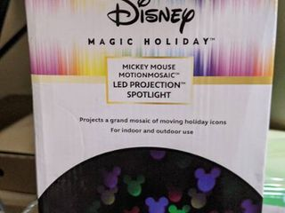 Disney Swirling Multicolor lED Mickey and Friends Christmas Indoor Outdoor light Show Projector