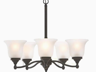 Portfolio Roseall 5 light Oil Rubbed Bronze Traditional Chandelier