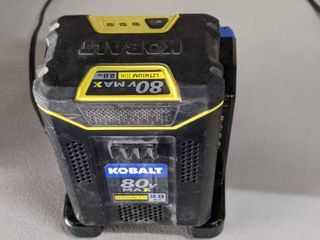 kobalt 80v max battery and charger