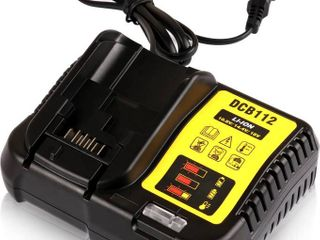 STZ Dewalt DCB112 12 Volt and 20 Volt MAX lithium Ion Battery Charger Replace DCB101 DCB105 DCB115 DCB107   Use for DCB120 DCB127 DCB206 DCB205 DCB201