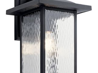 Kichler 49926BKT Capanna Collection Outdoor Wall 1 light  Textured Black   16 00 in