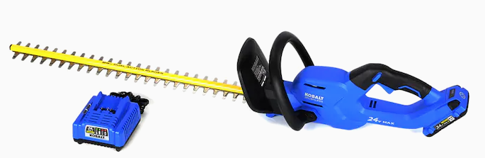 Kobalt 24 Volt Max 24 in Dual Cordless Electric Hedge Trimmer  Battery Included