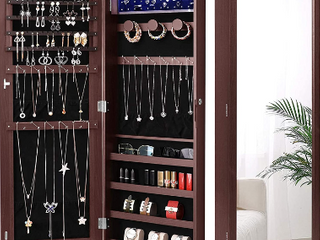 Nicetree Jewelry Cabinet   Not Inspected   Color   Off White Woodgrain   Not Inspected