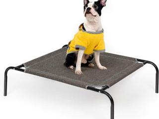 Raised Small Dog Bed   Grey   Bars slightly bent