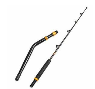 Fiblink Bent Butt Fishing Rod 2 Pc Saltwater Offshore Trolling Big Game Rod   Not Inspected