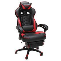 RESPAWN 110 Racing Style Gaming Chair  Reclining Ergonomic leather Chair with Footrest  in Red  RSP 110 RED    Not Inspected
