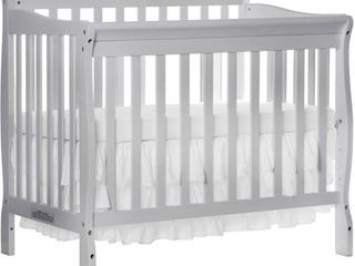 Dream On Me Aden 4 in 1 Convertible Mini Crib Mystic Gray   Not Inspected