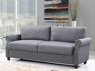 Divano Roma Furniture EXP89 FB 3S lGR Furniture Classic Sofas  light Grey