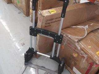 folding hand truck  doesn t appear to lock in place when unfolded