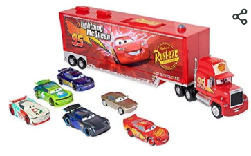 Disney Mack Trailer   With 6 Die Hard Cast Cars     Not Inspected