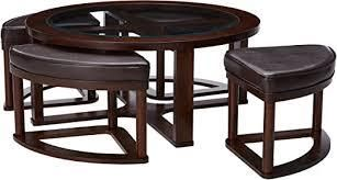 Round Coffee Accent Table Set