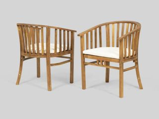 Two Alondra Wooden Dining Chairs