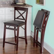 Two lynmar Back Folding Counter Stools