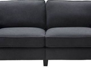 Charcoal Serta Palisades Upholstered 73  Sofa for living Room Modern Design Couch  Straight Arms  Soft Upholstery  Tool Free Assembly Retail  401 49 May not be complete