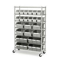 Seville Classics 7 Tier 22 Bin Rack Shelving System