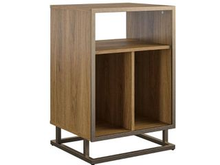 Regal Record Storage Stand Walnut   Novogratz