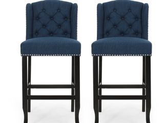 Foxwood Wingback Barstool  Set of 2  by Christopher Knight Home  Retail 278 99