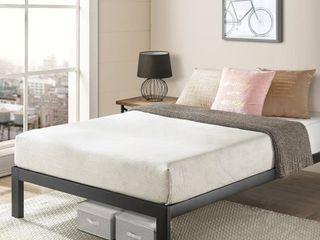 California King Size Bed Frame Heavy Duty Steel Slats Platform Series Titan C  Black   Crown Comfort   Retail 228 99