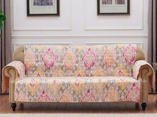 Porch  amp  Den DeeAnn Blush Reversible Sofa Couch Protector