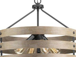 Progress lighting Gulliver Steel 4 light Pendant   Retail 229 00
