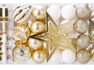 88 Piece Christmas Tree Ornaments Set  Decorative Hanging Baubles Set  Retail 79 98