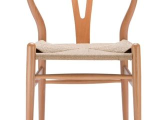 Poly and Bark Weave Chair  Set of 2  Retail 296 49