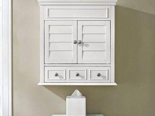 lydia White Finish Wood Wall Cabinet  Retail 136 49