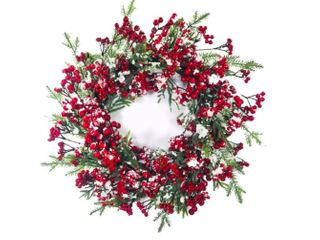 Snowed Berry Wreath 24 Inch