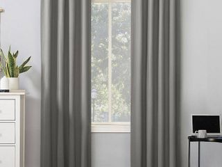 Cyrus Thermal 100  Blackout Back Tab Curtain Panel Gray   Sun Zero