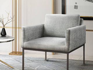 Canton Grey Velvet Chair  Retail 495 99