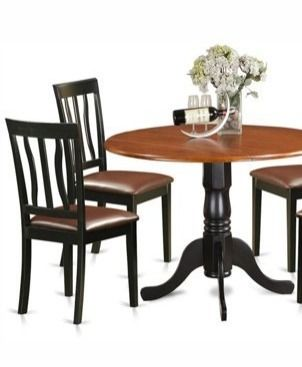 2 Wooden Dining Chairs   Cherry