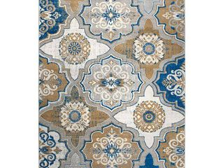 Home Dynamix Tremont Willow Area Rug  Taupe Blue  Retail 161 99