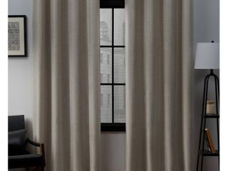 Set of 2  96 x52  loha linen Grommet Top light Filtering Curtain Panel Beige   Exclusive Home