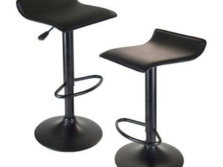 Obsidian Set of 2 Adjustable Swivel Air lift Stool  Retail 121 99