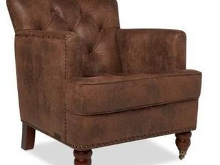Abbyson Tafton Antique Brown Fabric Club Chair   Retail 410 99