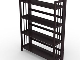 No Assembly Folding Four Shelf Bookcase  Retail 168 99