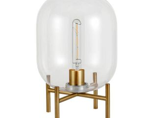 Edison Glass and Brass Table lamp