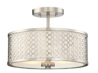 Strick   Bolton Melii 2 light Semi flush Mount Ceiling light  Retail 83 99