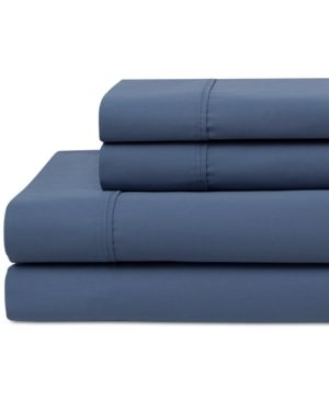 Wrinkle Free 420 Thread Count Cotton Sheet Set  Full  Denim   Elite Home Products