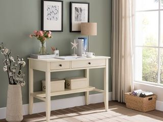 Null  Sutton Writing Desk with Charging Station in Antique White  Retail 239 99