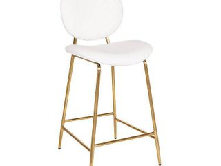 Set of 2  26  Counter Stool Faux leather White   OSP Home Furnishings