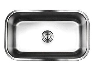 Brushed Satin 18 gauge Stainless Steel 30 inch Undermount Single bowl Kitchen with Sink Basket Strainer  Retail 89 99