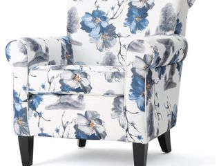 Floral Print  Roseville Fabric Floral Club Chair by Christopher Knight Home  Retail 379 49