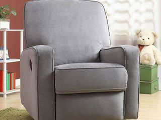 Sutton Swivel Glider Recliner Chair in Stella Zen Grey   Retail  457