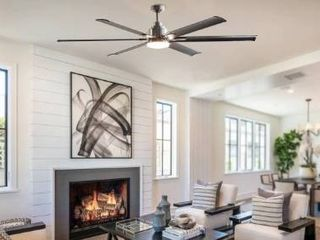 72  larger 6 Blade lED Ceiling Fan with Remote and light Kit  Retail 335 49