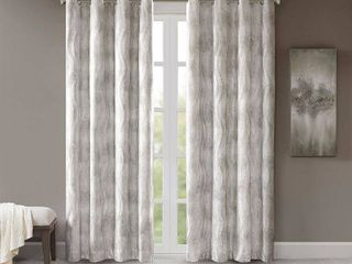 Sunsmart Victorio Jacquard Grommet Top Total Blackout Window Curtains