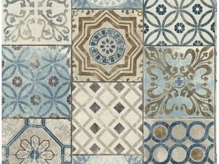 NextWall Moroccan Tile Peel and Stick Removable Wallpaper