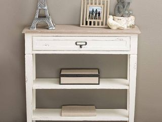 Dauphine Traditional French Accent Console Table 1 Drawer   Baxton Studio