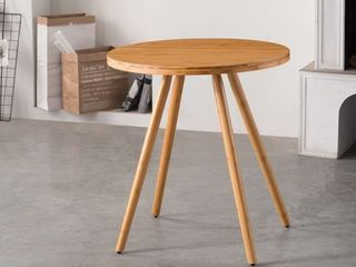 Natural Finish  Corvus lille Mid Century Modern Bamboo Dining Side Table  Retail 144 99